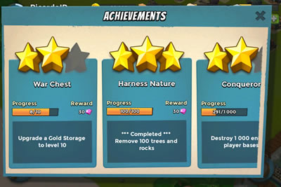 Boom Beach Achievements